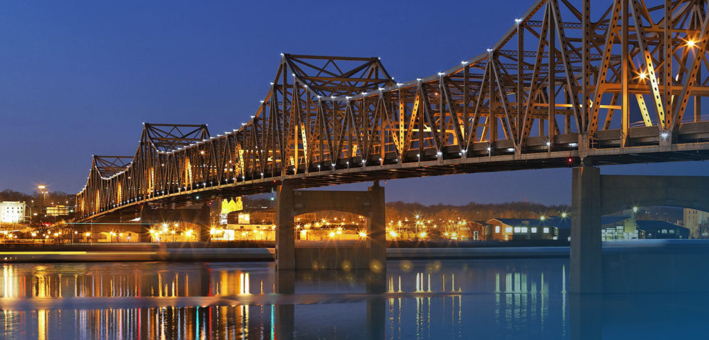 Bridge in Peoria, Illinois